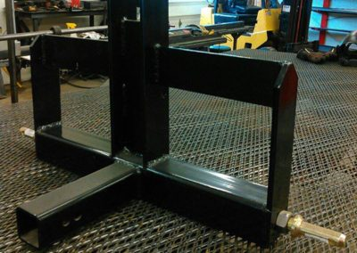 Compact tractor class II rear weight bar with receiver.